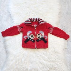 Vintage Handknit Circus Seal Theme Sweater